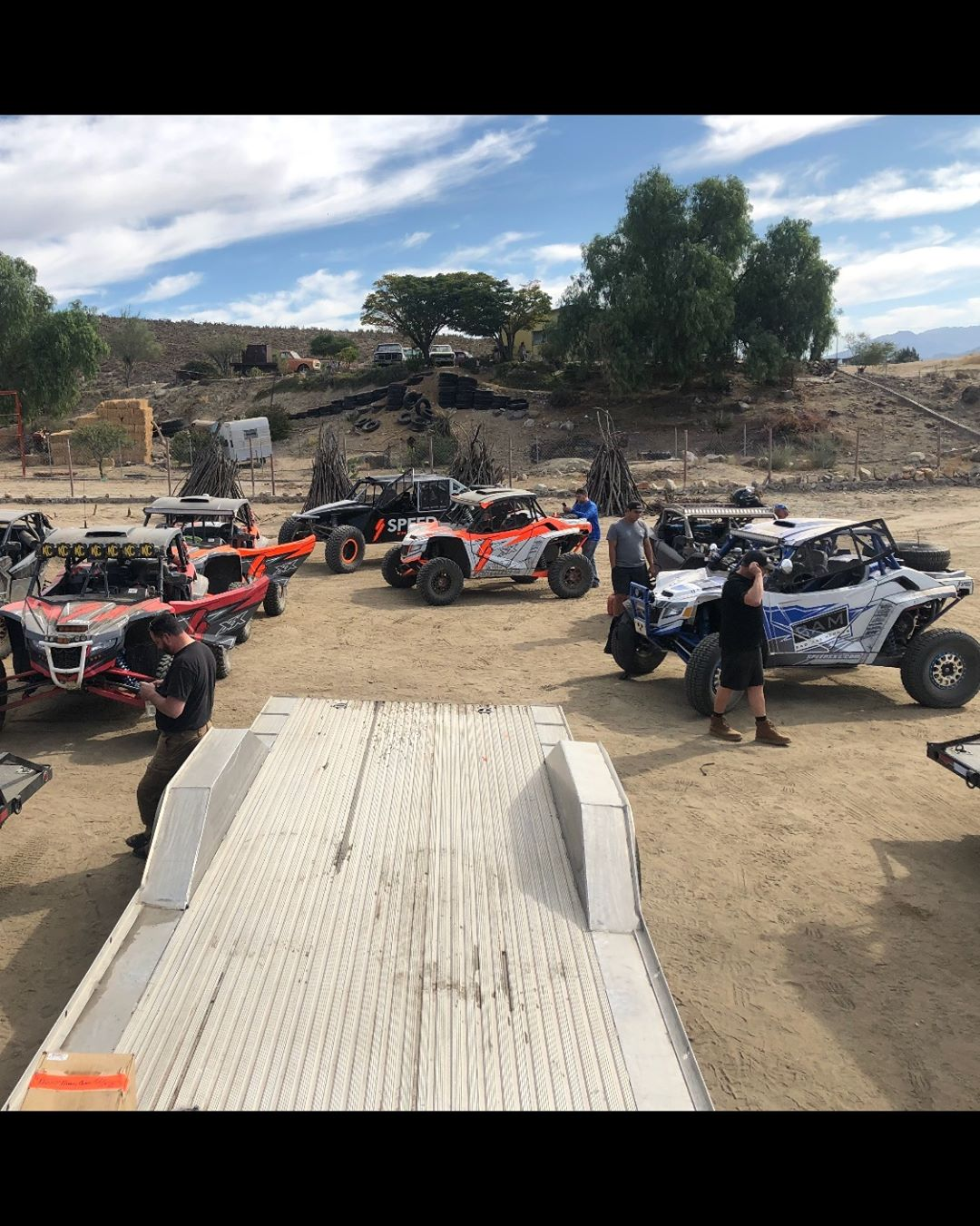 Many Speed SXS Cars here and Baja for the Baja 1000...