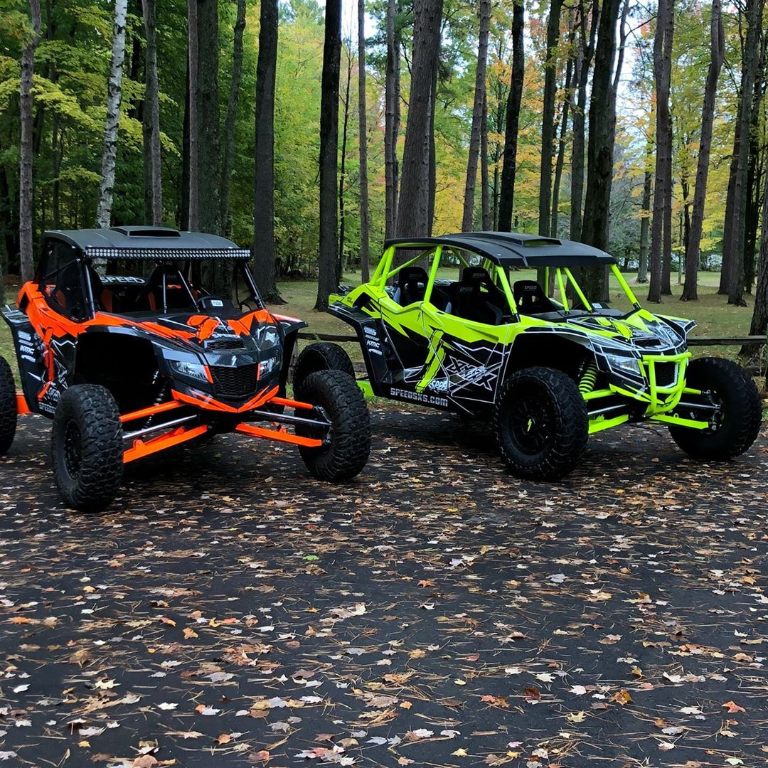 Speed UTVs are on the Wisconsin trails today with good friends and playing with ...
