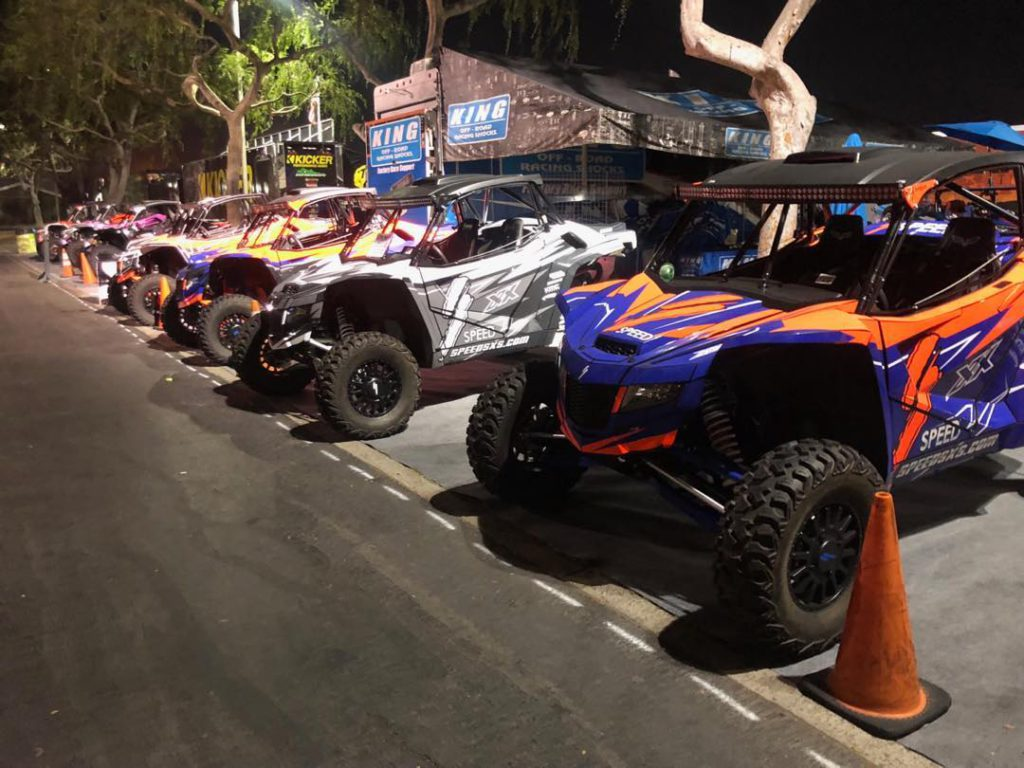 There is 12 Speed SXS Cars that can be taken from the Sand Sports Show this week...