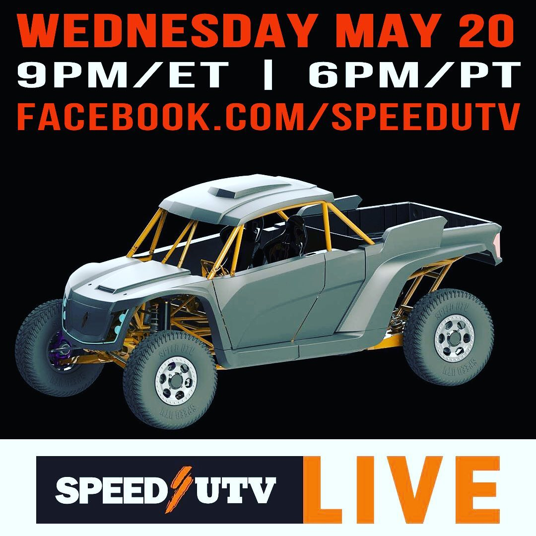 9 Pm EST / 6 Pm PST  I will discuss Racing a Speed UTV and what it takes to make...