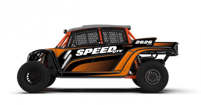 robby gordon edition speed UTV graphics on a 4 seat el jefe speed utv