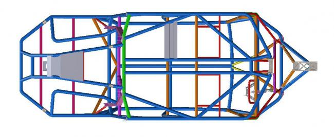 speed UTV chassis final design 1